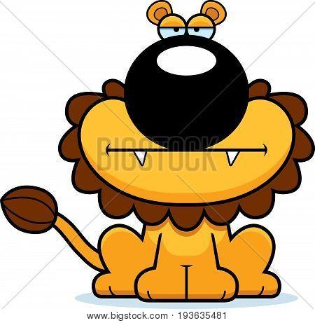 Cartoon Lion Bored