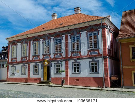 Town Hall in Ustek a historic mediaval town in Czechia