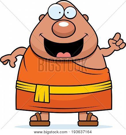 Cartoon Buddhist Monk Idea