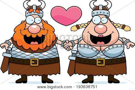 Cartoon Viking Couple
