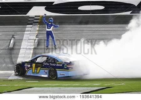 July 01, 2017 - Daytona Beach, FL, USA: Ricky Stenhouse Jr. (17) wins the Coke Zero 400 at Daytona International Speedway in Daytona Beach, FL.