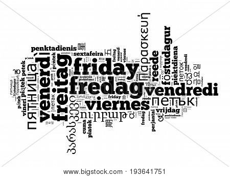 Word Friday In Different Languages