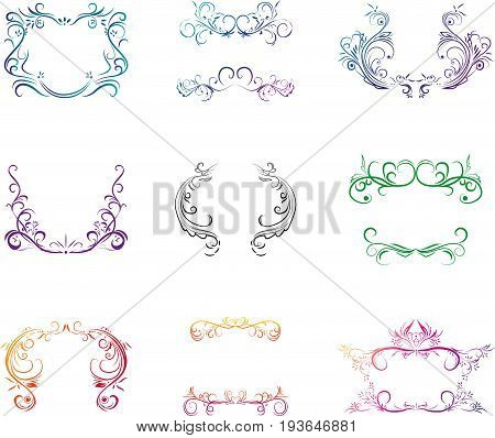 vector set of the isolated decorative elements