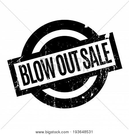 Blow Out Sale rubber stamp. Grunge design with dust scratches. Effects can be easily removed for a clean, crisp look. Color is easily changed.