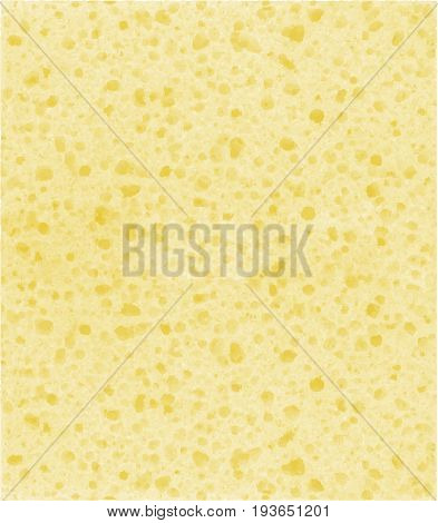 Yellow beige background with sponge texture. Vector background