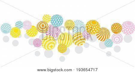 modern summer pale color geometry design element. vector illustration. Print and web surface design template for card, invitation, poster, header