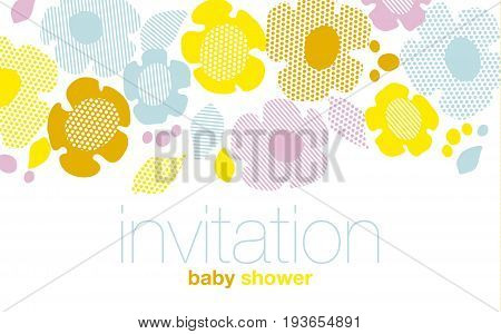 modern summer pale color floral pattern vector illustration. Print and web surface design template for card, invitation, poster
