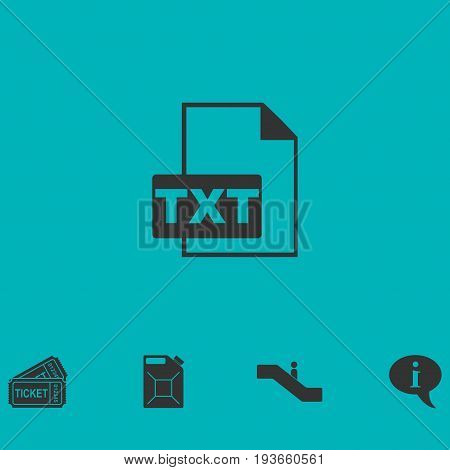 TXT file icon flat. Simple vector symbol and bonus icon