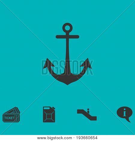 Anchor icon flat. Simple vector symbol and bonus icon