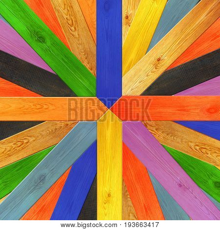 multicolored wooden boards made in different colors
