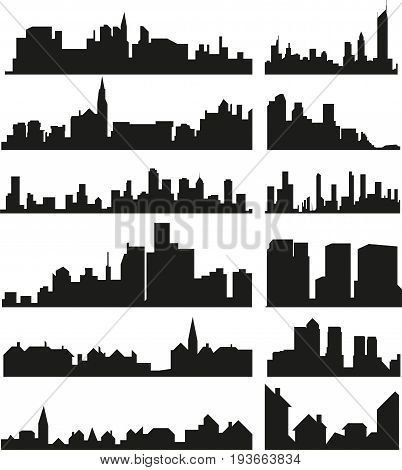vector set of the abstract isolated skylines