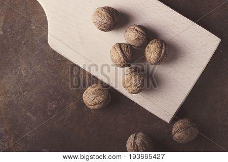 walnuts close-up walnuts on a dark background