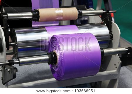 Extruder of polyethylene for process production of plastic bags