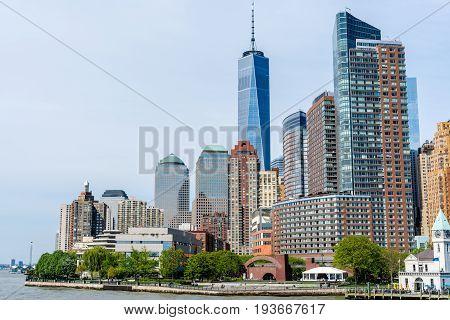 Skyline of Manhattan in New York City - United States