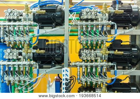 Air line, compressors for pneumatic instrument