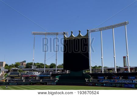 Kansas city Missouri United States- 6/26/2017 Kauffman stadium jumbotron