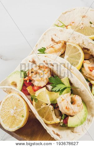Tacos With Salsa And Shrimp