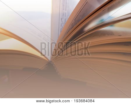 A Stack Of Books And One Is Open, Concept Learning, School, University, Training And Knowledge