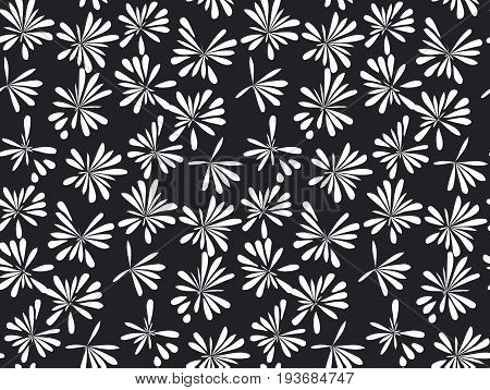 abstract tropical floral seamless pattern for surface design. decorative simple modern flower reparable motif
