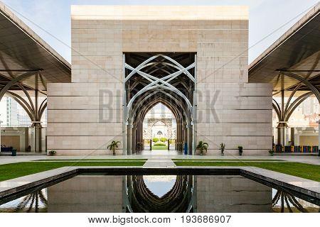 Entrance Of Tuanku Mizan Zainal Abidin Mosque (iron Mosque)