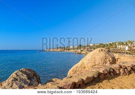 Beach On Sea Cost On Red Sea Egypt