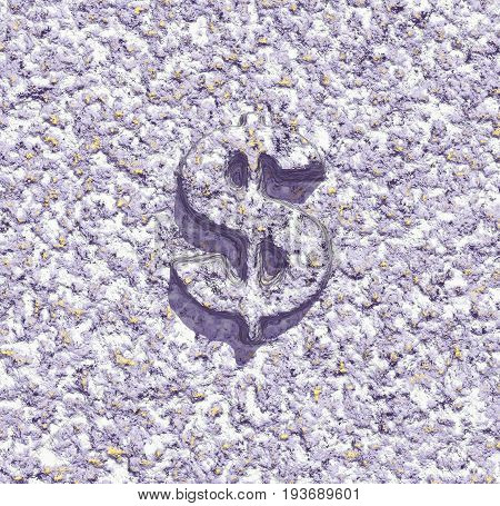 dollar symbol on abstract background - 3d rendering