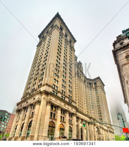 Manhattan Municipal Building in New York City, United States