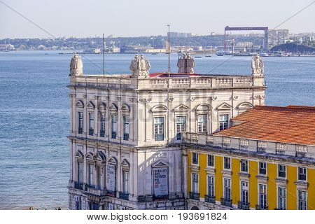 View over Tagus River from Augusta Street Arch - LISBON - PORTUGAL