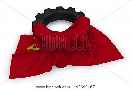 gear wheel and flag of the soviet union - 3d rendering