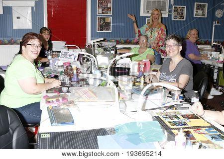LOS ANGELES - JUL 1:  Katherine Kelly Lang, Jody McNelis, Volunteers at the