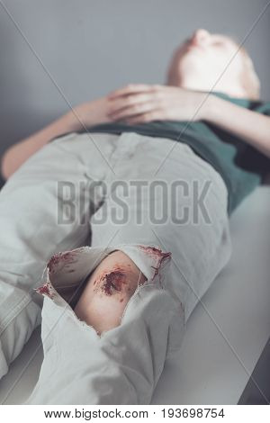 Young Teenage Boy In Triage