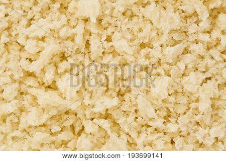 Background texture of flaky panko bread crumbs.