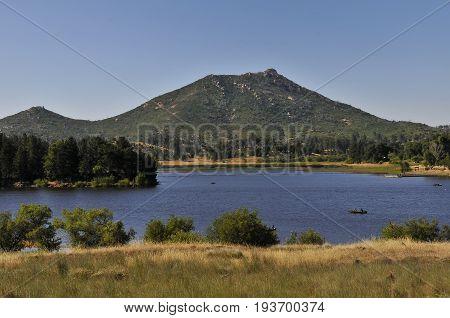 View over Kumayaka Lake, Southern California, USA