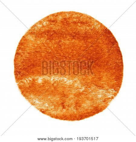 Watercolor Brown Circle On White Background