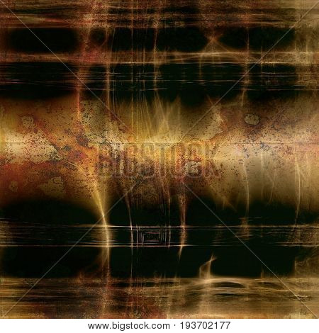 Glamour vintage frame, decorative grunge background. Aged texture with different color patterns: yellow (beige); brown; gray; green; red (orange); black