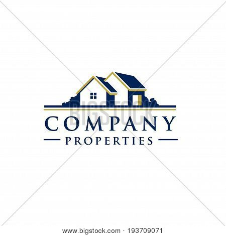 Village House Logo Real Estate logo vector, Cottage Farm Logotype concept icon