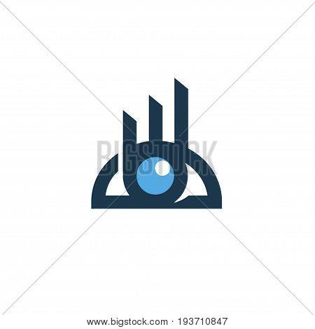 Business strategy logo design concept, business media logo, business analytics vision