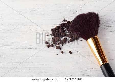 Make Up Brush With Brown Powder.