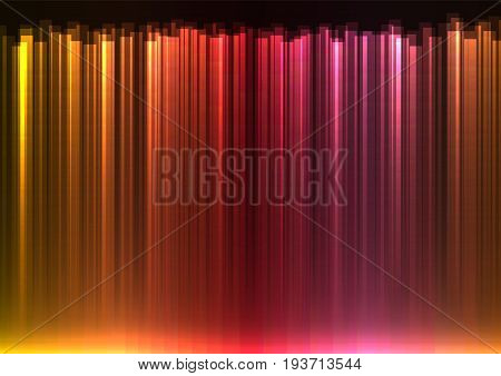 red stream abstract line background, digital bar template, technology stream layout, vector illustration