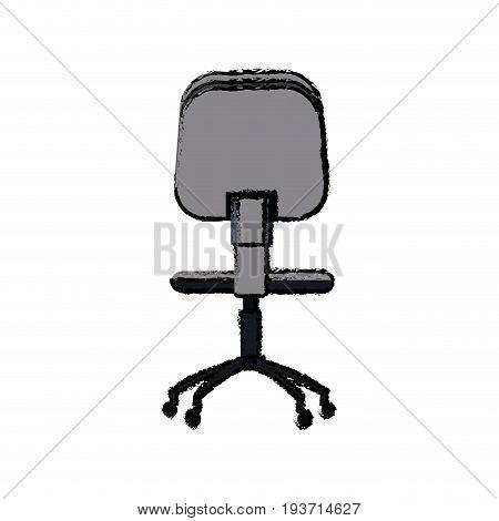 office chair seat comfort wheel icon vector illustration