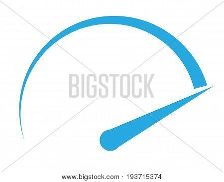 speedometer icon on white background. speedometer sign.