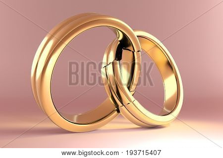Wedding Rings Symbolizing The Reunion Between Two People