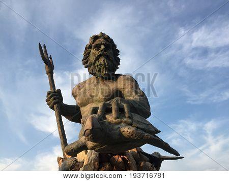 Neptune's Statue at Neptune's Park in Virginia Beach