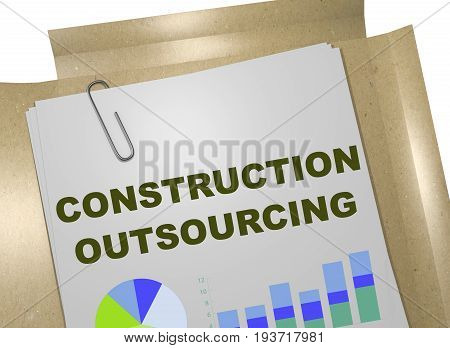 Construction Outsourcing Concept