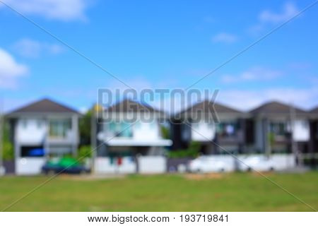 Residential House Village Suburb, Image Blur Background