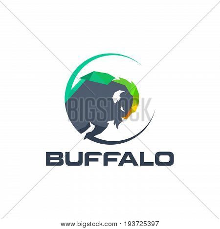 Buffalo icon isolated on white background. Buffalo vector logo. Flat design style. Modern vector pictogram for web graphics - stock vector