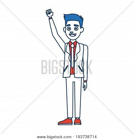 politician man avatar campaign election democracy vector illustration