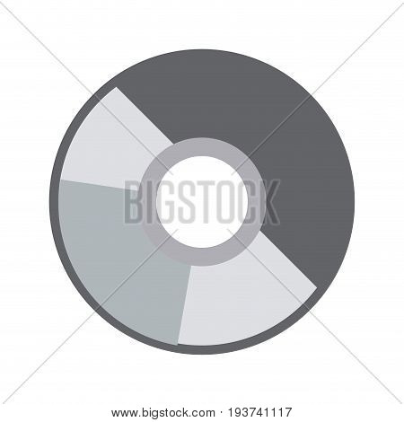 compact disk data archive digital audio vector illustration