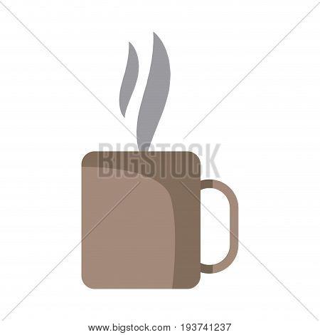 coffee cup mug hot aroma liquid fresh vector illustration