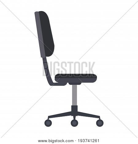 office chair furniture equipment comfort wheel vector illustration